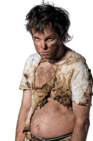 Portrait of burnt man over white background Stock Photo - 13145940