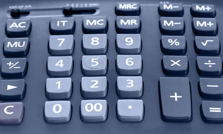 The big black calculator - close up keypad background photo