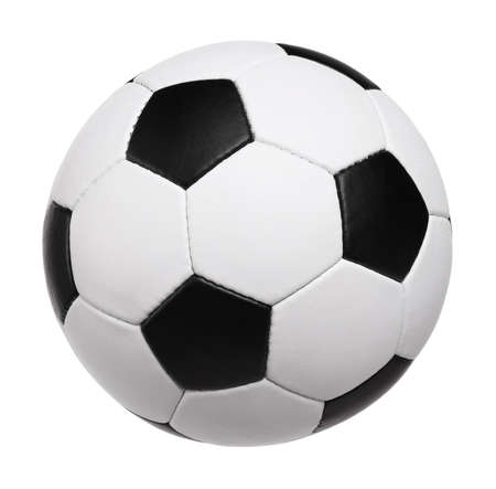 Classic soccer ball - isolated on white background Stock Photo