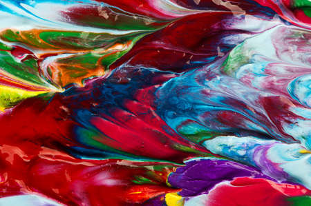 Picture, abstract painted canvas as multicolor background photo