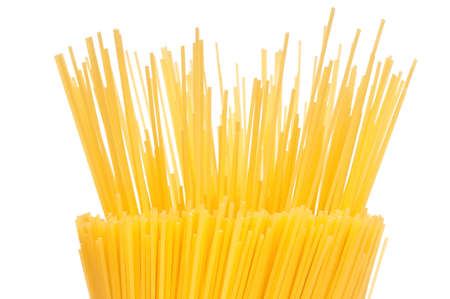 Bunch of spaghetti isolated on white background photo