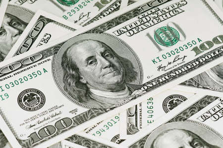 Money background, heap of dollars, financial concept of earnings Stock Photo - 14764251