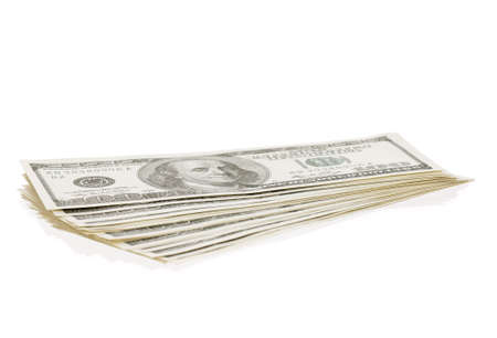 Heap of dollars isolated on a white background Stock Photo - 14761887