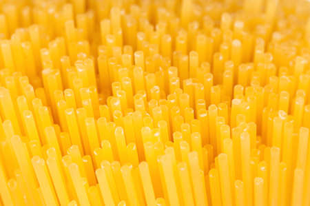 Close-up of long uncooked italian spaghetti background Stock Photo - 15334571