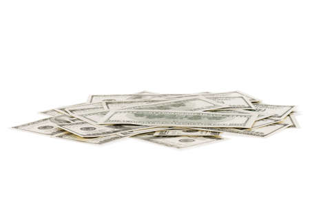Heap of dollars isolated on a white background. Stock Photo - 15408807