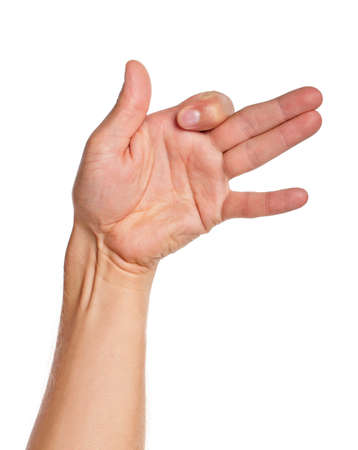 Man hand sign isolated on white background Stock Photo - 15550043