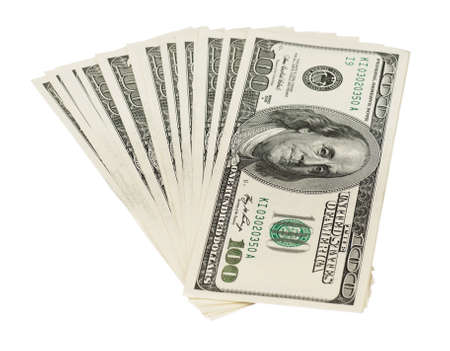 Heap of dollars isolated on a white background Stock Photo - 15547341