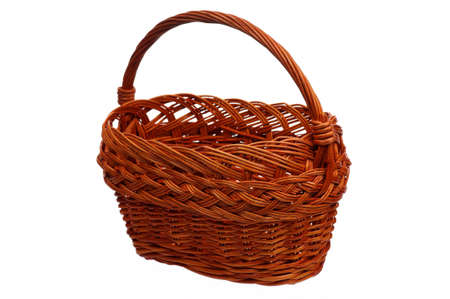 Empty wicker basket isolated on white background Stock Photo - 15597643