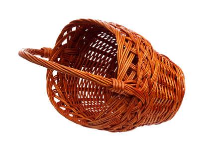 Empty wicker basket isolated on white background Stock Photo - 15676650
