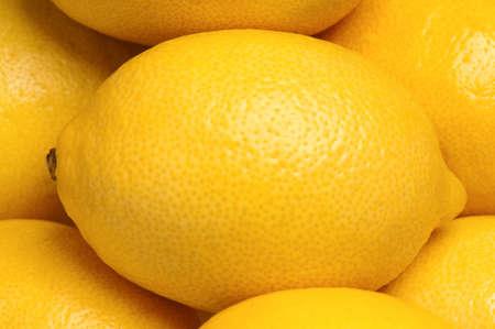 Close up of fresh ripe lemons background Stock Photo - 15823003