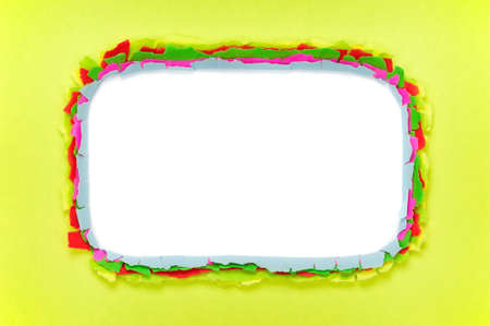 Colorful torn paper background with space for your message photo