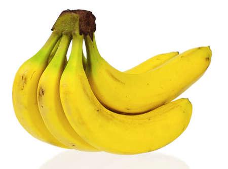 Bunch of ripe bananas isolated on white background photo