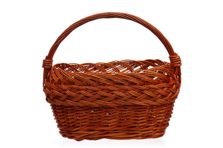 Empty wicker basket isolated on white background Stock Photo - 15935464