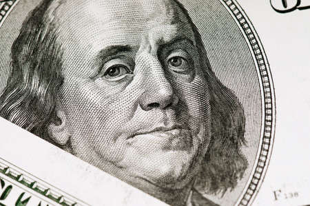 Money background, heap of dollars, financial concept of earnings photo