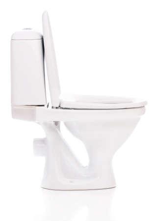 New toilet bowl isolated on white background