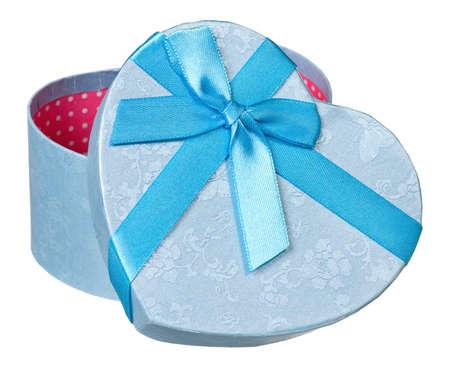 Single gift box isolated on white background Stock Photo - 17243569