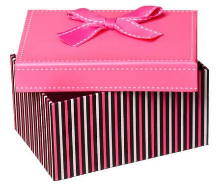Single gift box isolated on white background Stock Photo - 17243564