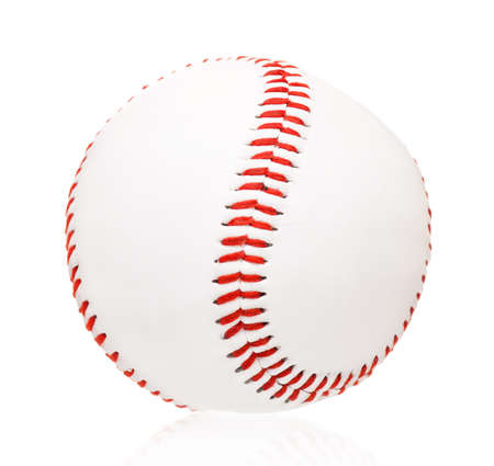 Single baseball ball, isolated on white background Stock Photo - 17579086