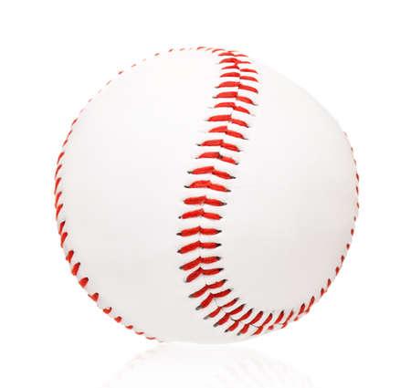 Single baseball ball, isolated on white background Stock Photo - 17579086