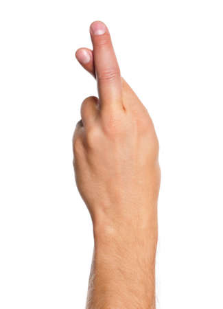 Man hand sign isolated on white background Stock Photo - 17579269