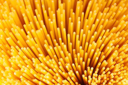 Close-up of long uncooked italian spaghetti background photo