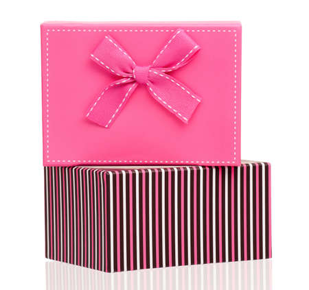 Two gift boxes isolated on white background Stock Photo - 17938998
