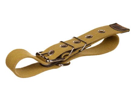 restraining: New dog collar isolated on the white background