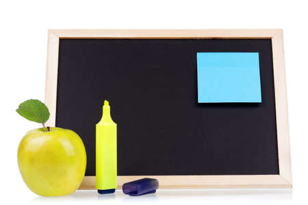 Small wooden blank blackboard isolated on white background Stock Photo - 17939074