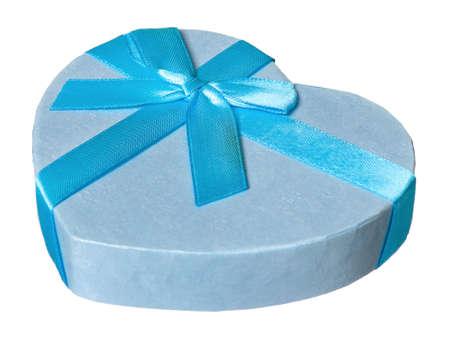 Single gift box isolated on white background Stock Photo - 19253046