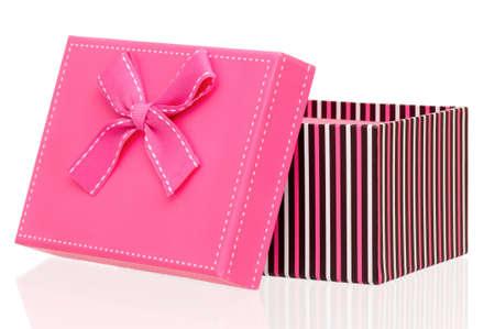 Single gift box isolated on white background Stock Photo - 19253057