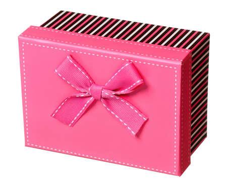 Single gift box isolated on white background Stock Photo - 19737958