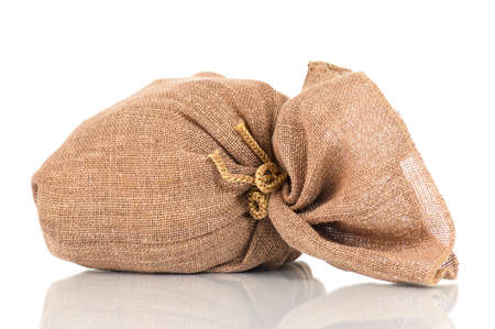 Full small sack, isolated on white background Stock Photo - 19738048
