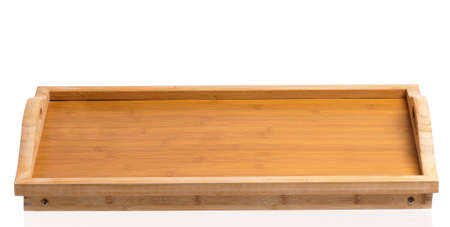 conjugation: Small wooden table, isolated on white background