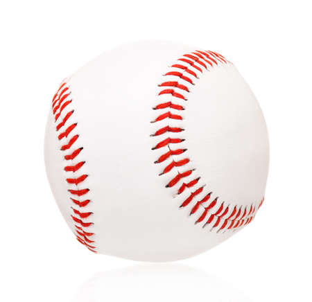 Single baseball ball, isolated on white background Stock Photo - 25257883