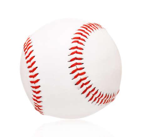 Single baseball ball, isolated on white background Stock Photo - 25257883