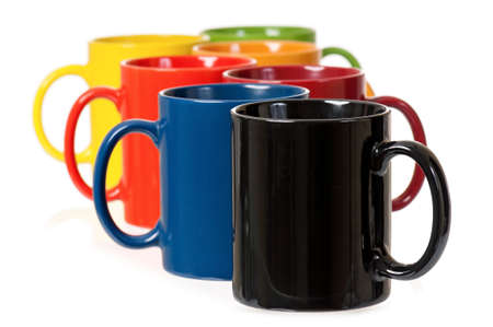 mugged: Colorful cups Stock Photo