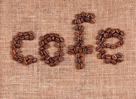 colombian food: Text of coffee beans