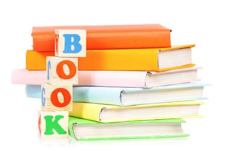 Books with blocks photo