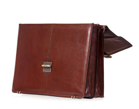 Leather briefcase photo