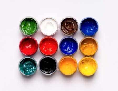 gouache: Gouache paints Stock Photo