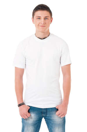 T-shirt on man photo