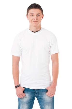 T-shirt on man photo