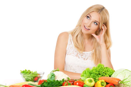 Woman with vegetables photo