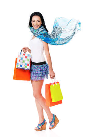 Woman shopping photo