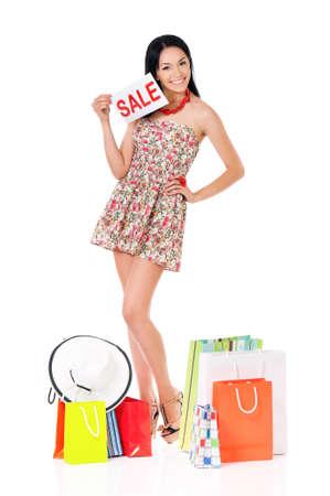 Woman shopping photo