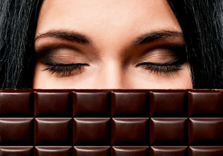 Woman with chocolate photo