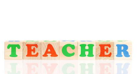 Word TEACHER photo
