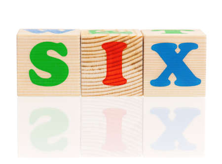 Cubes with letters photo