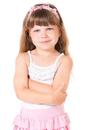 3 4 length: Little girl Stock Photo