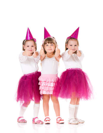 contentedness: Little girls Stock Photo